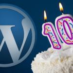 Decimo aniversario de Wordpress
